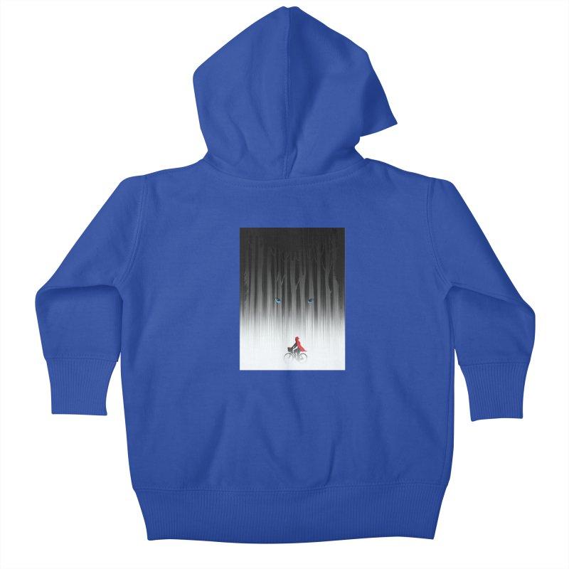 Red Riding Hood Kids Baby Zip-Up Hoody by filsoofdesigns's Artist Shop