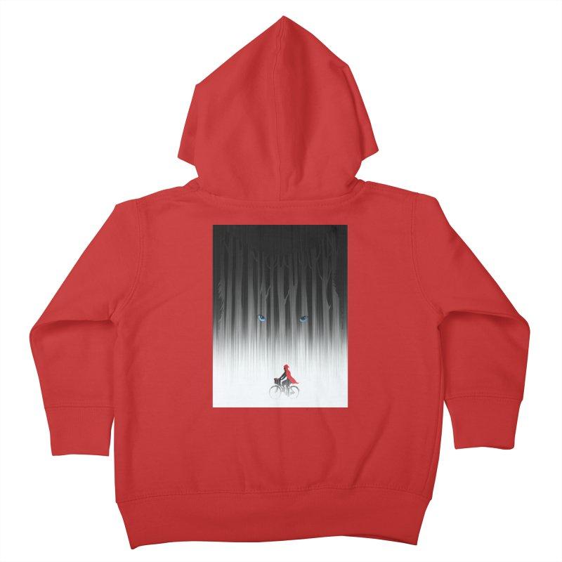 Red Riding Hood Kids Toddler Zip-Up Hoody by filsoofdesigns's Artist Shop