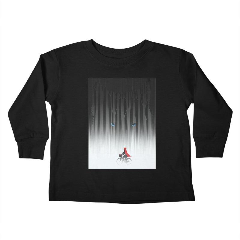 Red Riding Hood Kids Toddler Longsleeve T-Shirt by filsoofdesigns's Artist Shop