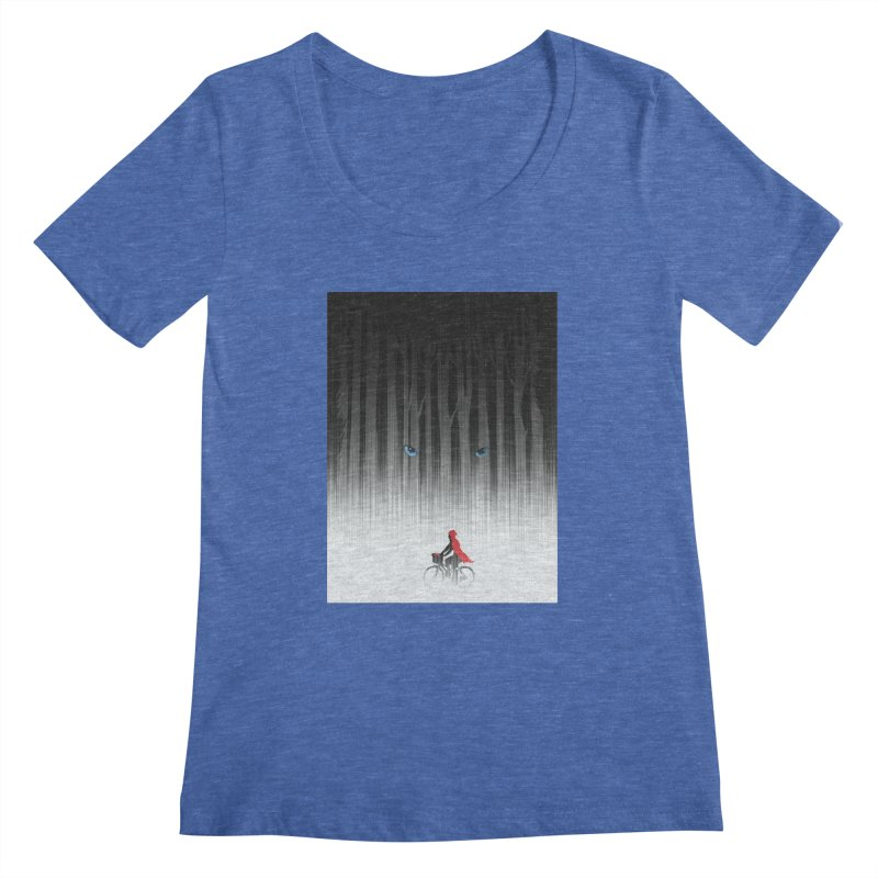 Red Riding Hood Women's Scoopneck by filsoofdesigns's Artist Shop