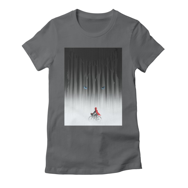 Red Riding Hood Women's Fitted T-Shirt by filsoofdesigns's Artist Shop