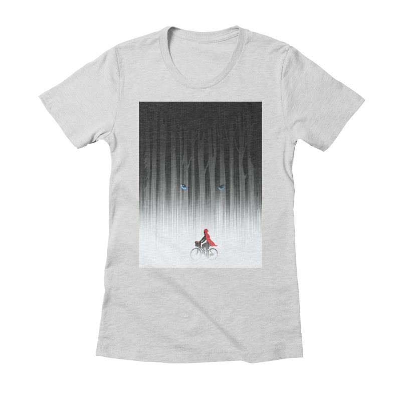 Red Riding Hood Women's Fitted T-Shirt by filsoofdesigns's Artist Shop