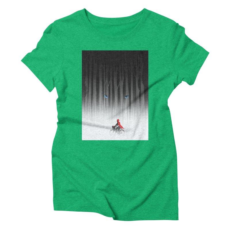 Red Riding Hood Women's Triblend T-Shirt by filsoofdesigns's Artist Shop