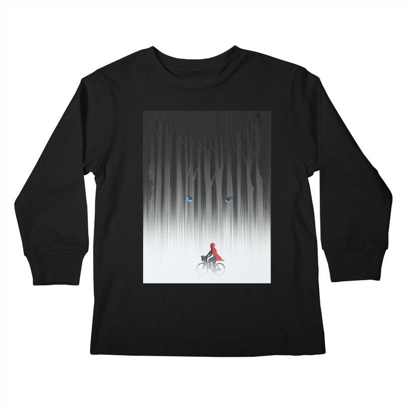 Red Riding Hood Kids Longsleeve T-Shirt by filsoofdesigns's Artist Shop