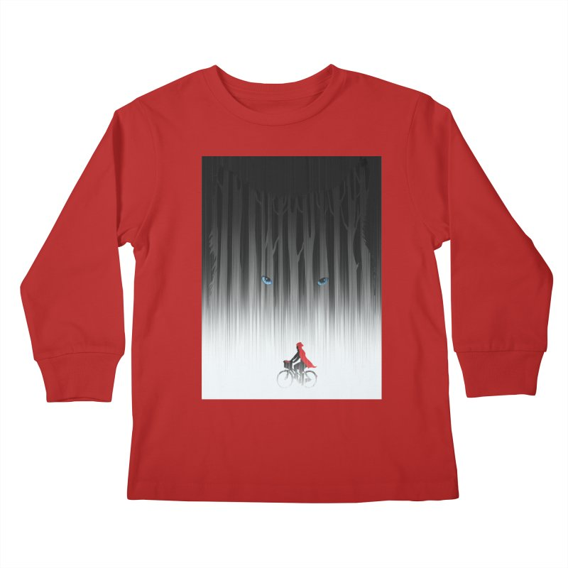 Red Riding Hood Kids Longsleeve T-Shirt by filsoofdesigns's Artist Shop