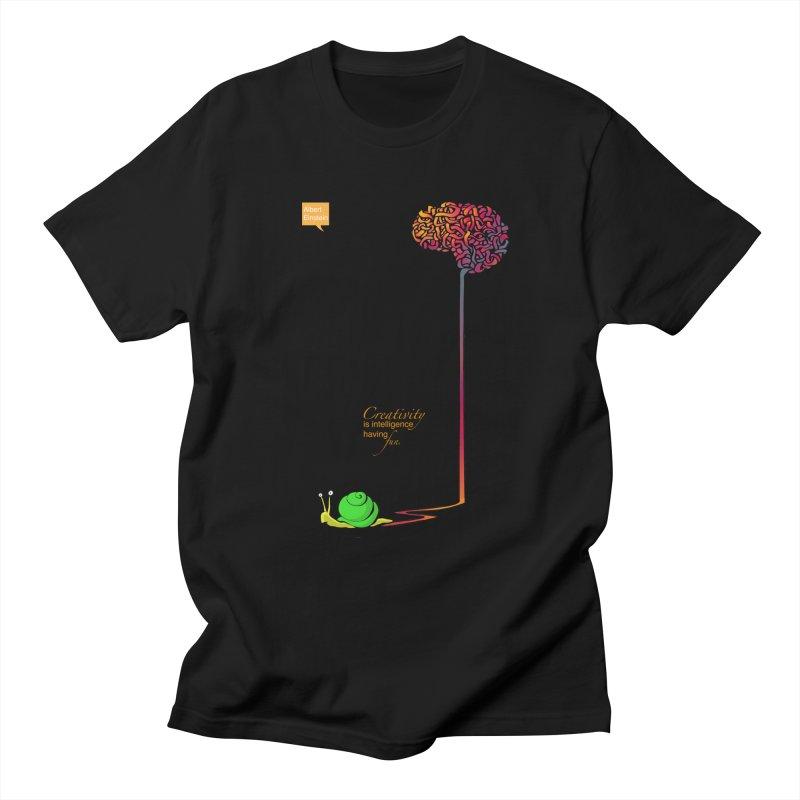 Creativity is Intelligence having fun Men's T-Shirt by filsoofdesigns's Artist Shop