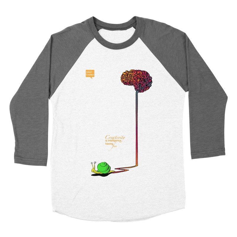 Creativity is Intelligence having fun Women's Baseball Triblend T-Shirt by filsoofdesigns's Artist Shop