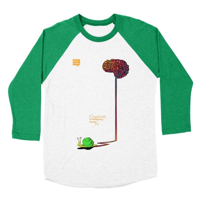 Creativity is Intelligence having fun Men's Baseball Triblend T-Shirt by filsoofdesigns's Artist Shop