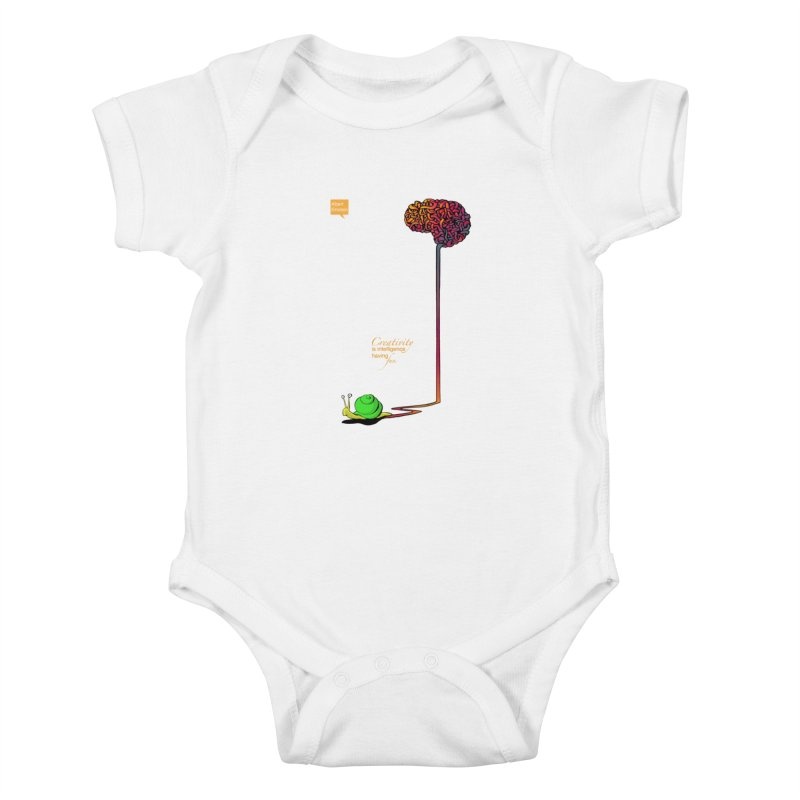 Creativity is Intelligence having fun Kids Baby Bodysuit by filsoofdesigns's Artist Shop