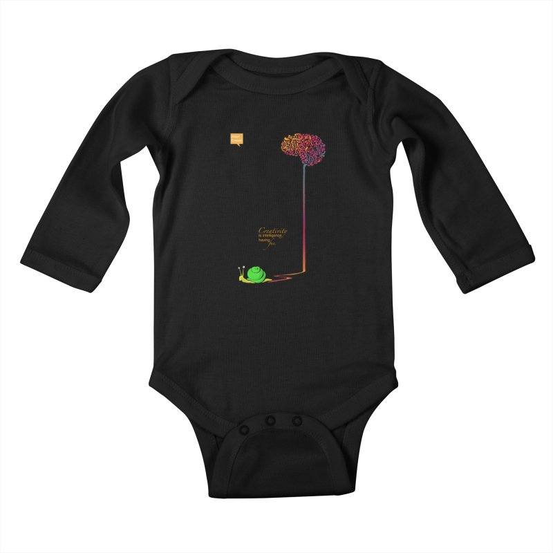 Creativity is Intelligence having fun Kids Baby Longsleeve Bodysuit by filsoofdesigns's Artist Shop