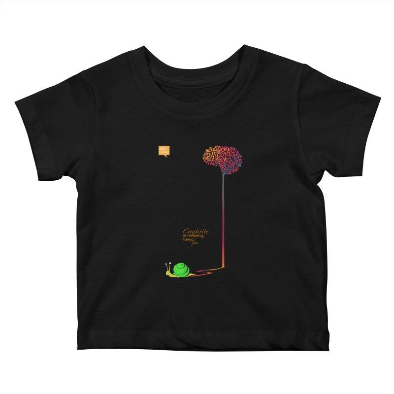 Creativity is Intelligence having fun Kids Baby T-Shirt by filsoofdesigns's Artist Shop