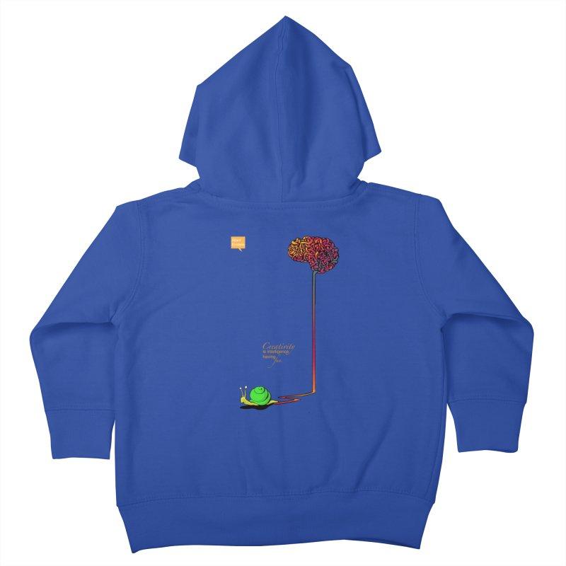 Creativity is Intelligence having fun Kids Toddler Zip-Up Hoody by filsoofdesigns's Artist Shop