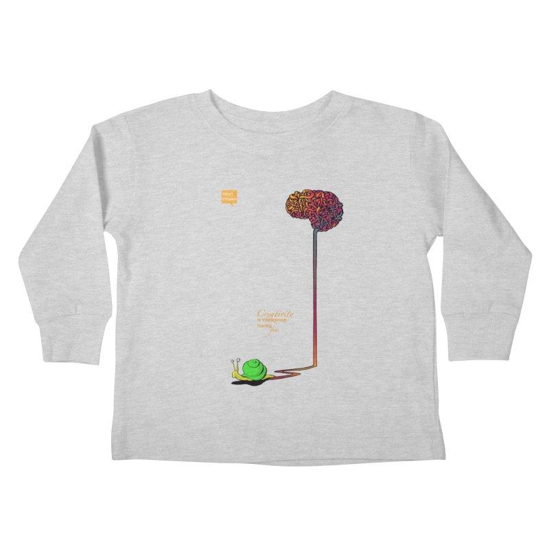 Creativity is Intelligence having fun Kids Toddler Longsleeve T-Shirt by filsoofdesigns's Artist Shop