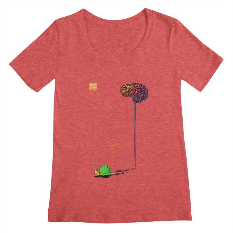 Creativity is Intelligence having fun Women's Scoopneck by filsoofdesigns's Artist Shop