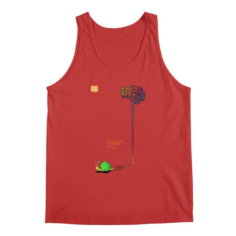 Creativity is Intelligence having fun Men's Tank by filsoofdesigns's Artist Shop