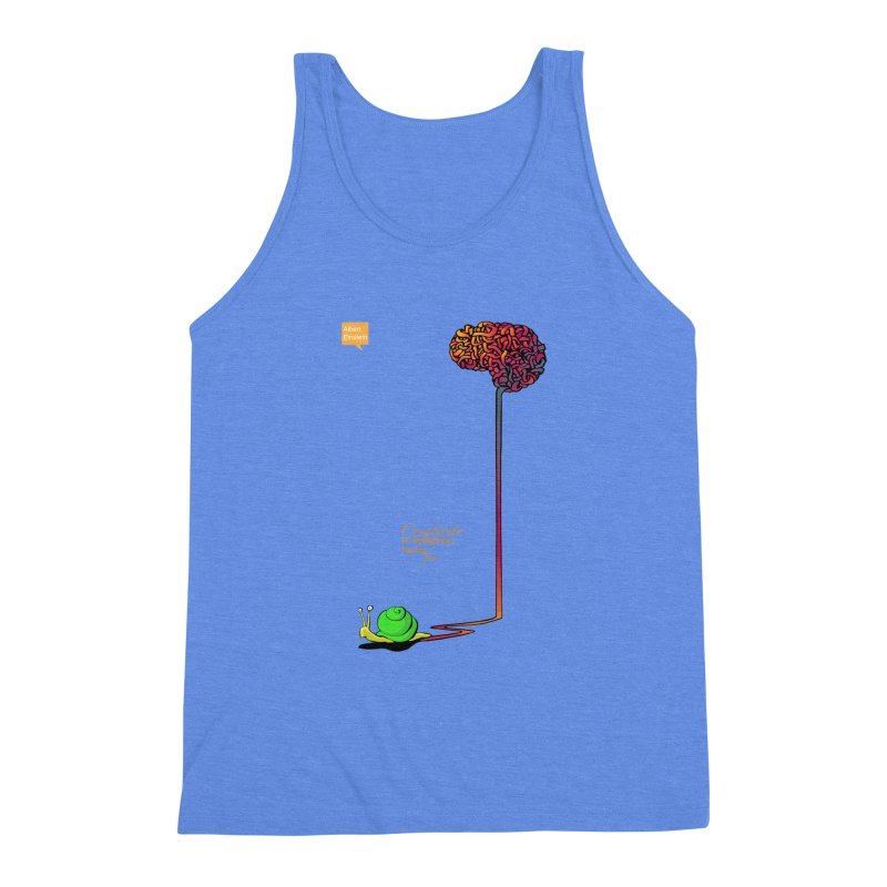 Creativity is Intelligence having fun Men's Triblend Tank by filsoofdesigns's Artist Shop