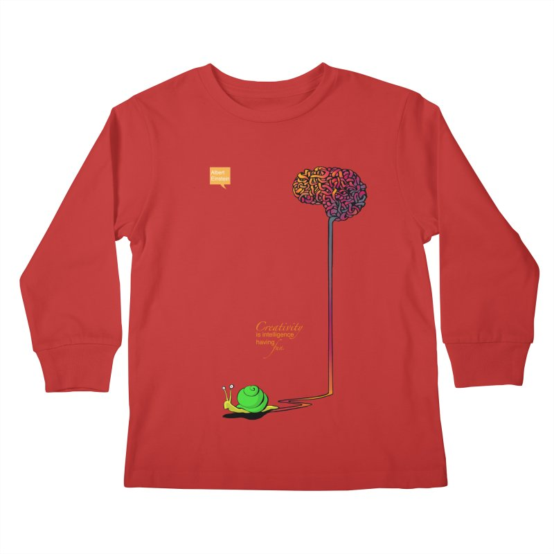 Creativity is Intelligence having fun Kids Longsleeve T-Shirt by filsoofdesigns's Artist Shop