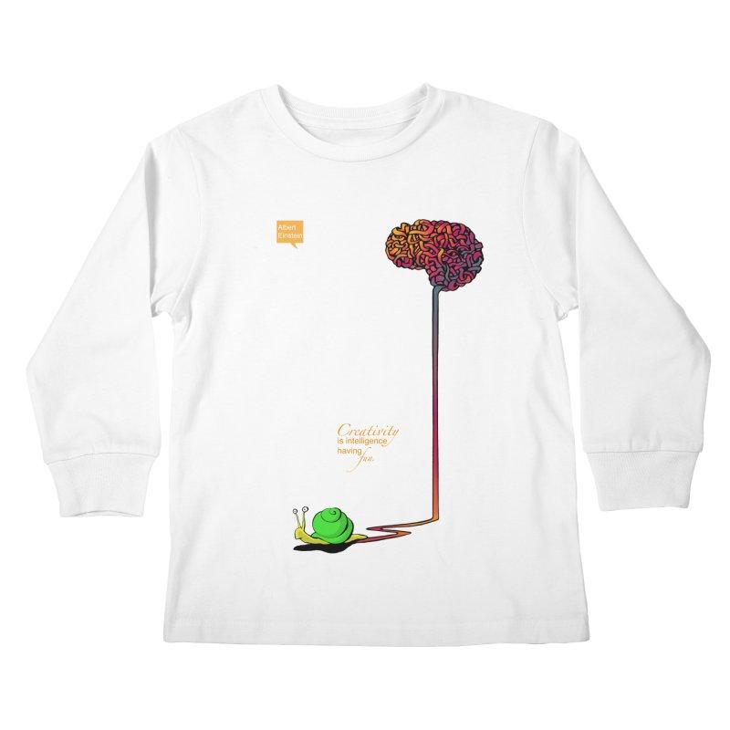Creativity is Intelligence having fun Kids Longsleeve T-Shirt by filsoofdesigns's Artist Shop
