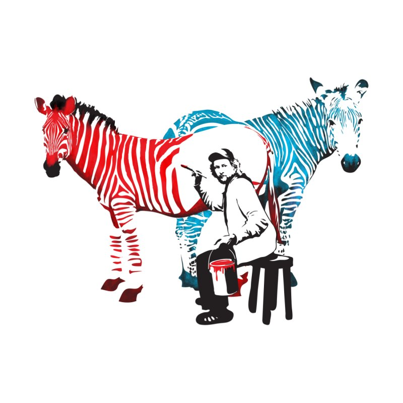 Rembrandt the zebra painter by filsoofdesigns's Artist Shop