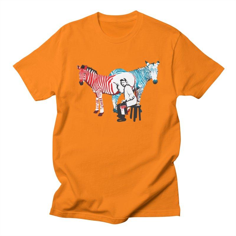 Rembrandt the zebra painter Men's T-shirt by filsoofdesigns's Artist Shop