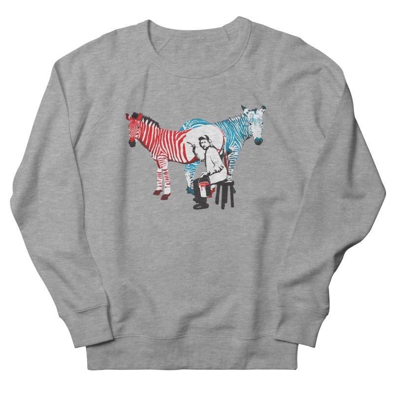 Rembrandt the zebra painter Men's Sweatshirt by filsoofdesigns's Artist Shop