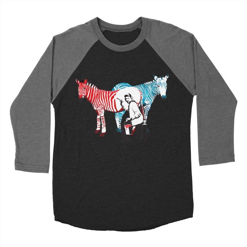 Rembrandt the zebra painter Women's Baseball Triblend T-Shirt by filsoofdesigns's Artist Shop