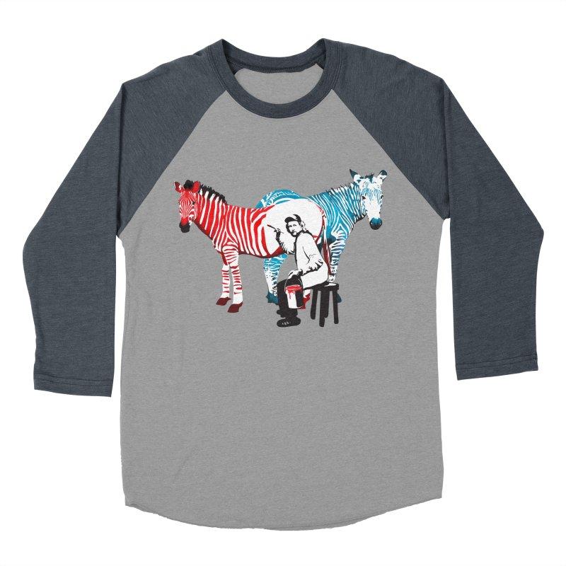 Rembrandt the zebra painter Men's Baseball Triblend T-Shirt by filsoofdesigns's Artist Shop