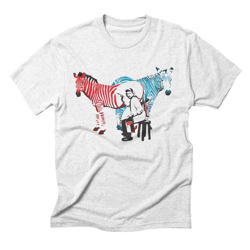 Rembrandt the zebra painter Men's Triblend T-shirt by filsoofdesigns's Artist Shop