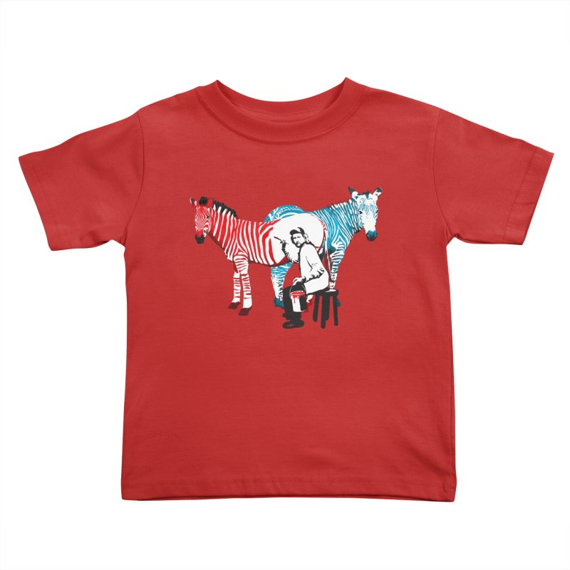 Rembrandt the zebra painter Kids Toddler T-Shirt by filsoofdesigns's Artist Shop