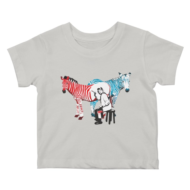 Rembrandt the zebra painter Kids Baby T-Shirt by filsoofdesigns's Artist Shop