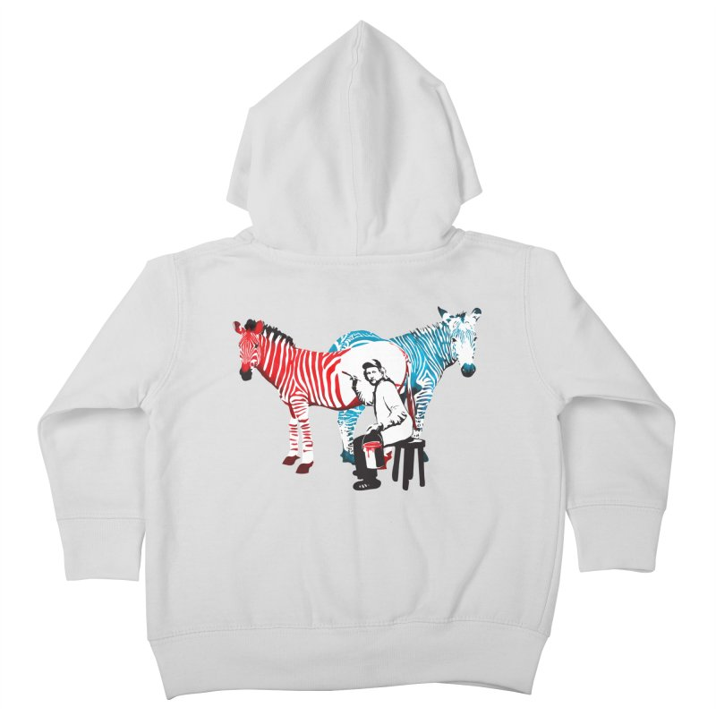 Rembrandt the zebra painter Kids Toddler Zip-Up Hoody by filsoofdesigns's Artist Shop