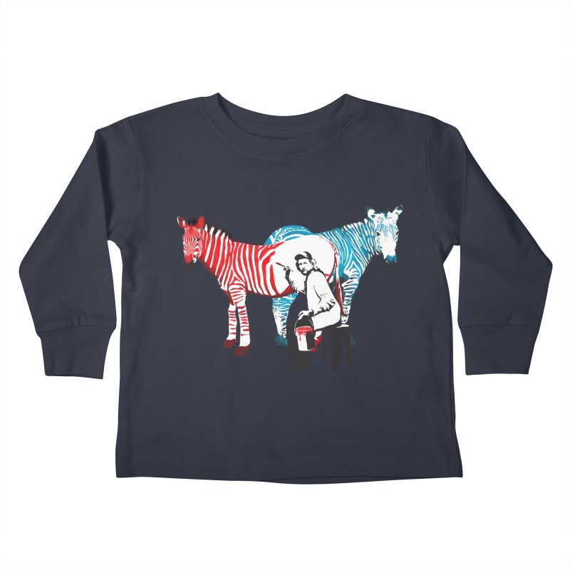 Rembrandt the zebra painter Kids Toddler Longsleeve T-Shirt by filsoofdesigns's Artist Shop