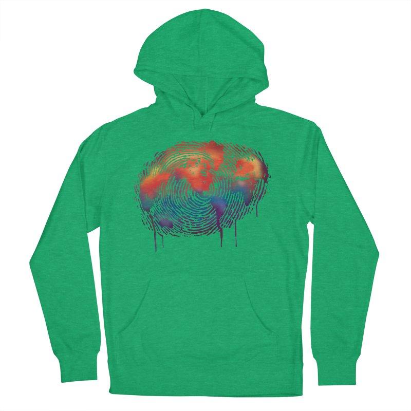 Global Fingerprint Women's Pullover Hoody by filsoofdesigns's Artist Shop