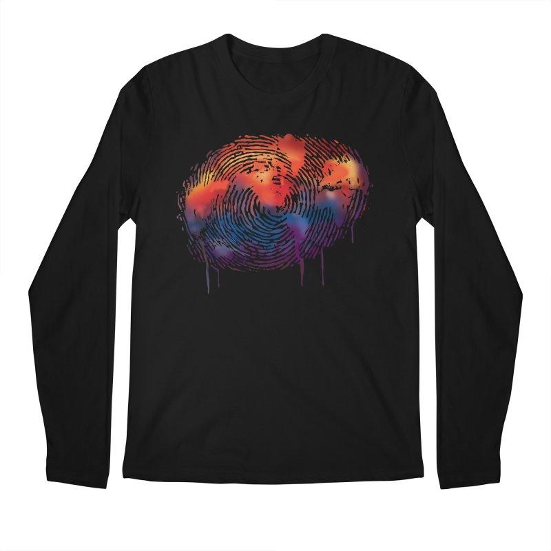 Global Fingerprint Men's Longsleeve T-Shirt by filsoofdesigns's Artist Shop