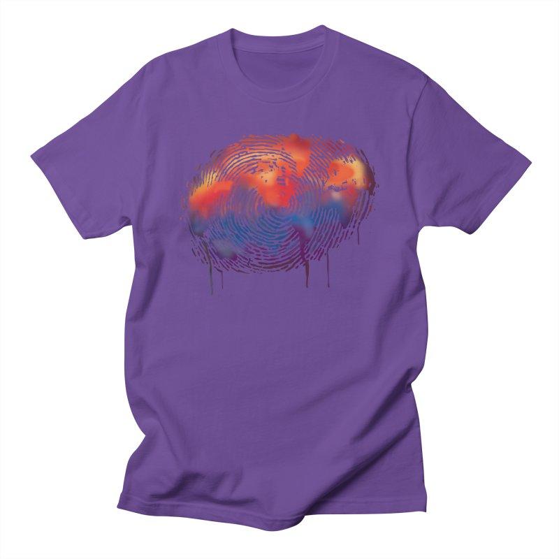 Global Fingerprint Men's T-Shirt by filsoofdesigns's Artist Shop