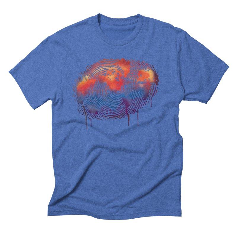 Global Fingerprint Men's Triblend T-Shirt by filsoofdesigns's Artist Shop