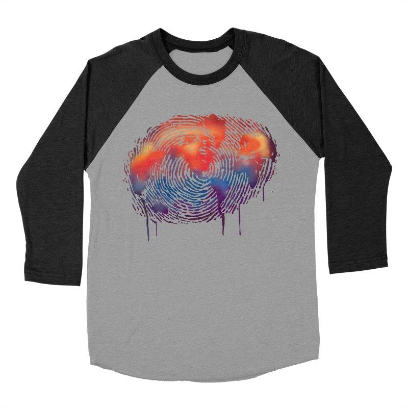 Global Fingerprint Women's Baseball Triblend T-Shirt by filsoofdesigns's Artist Shop