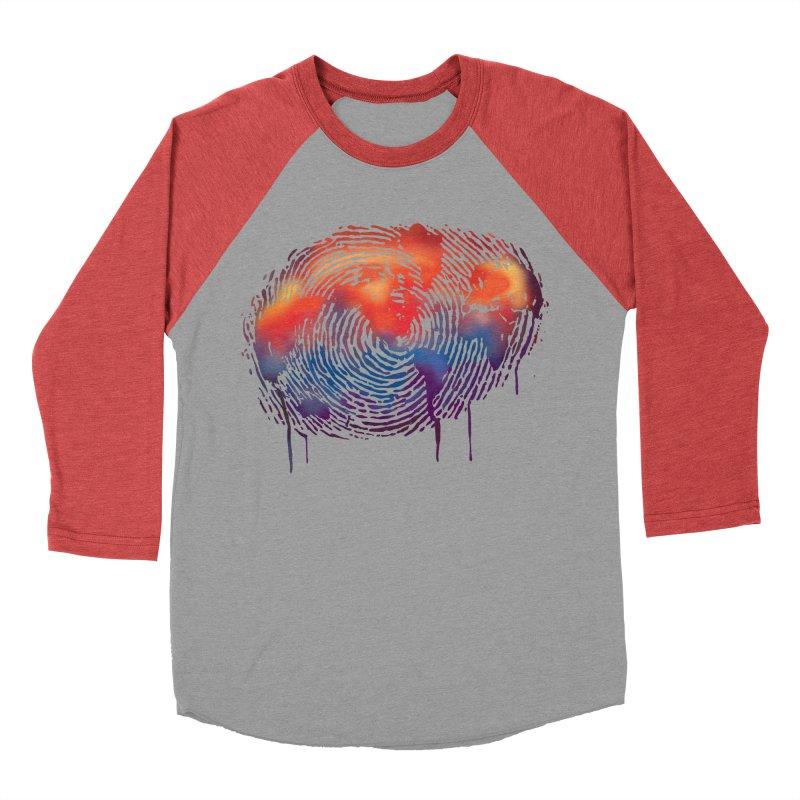 Global Fingerprint Men's Baseball Triblend T-Shirt by filsoofdesigns's Artist Shop