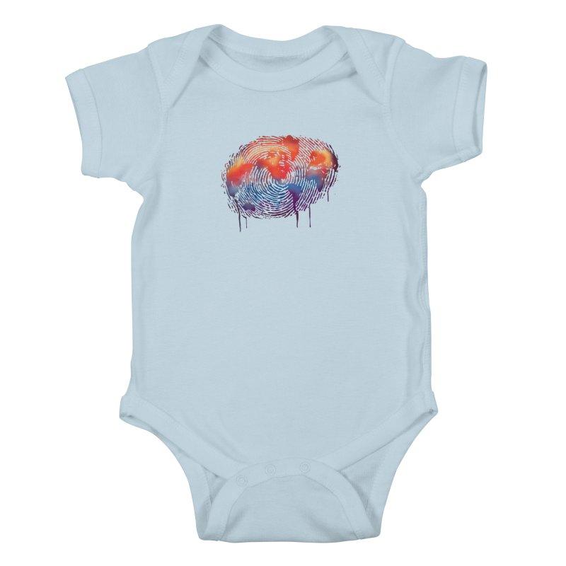 Global Fingerprint Kids Baby Bodysuit by filsoofdesigns's Artist Shop