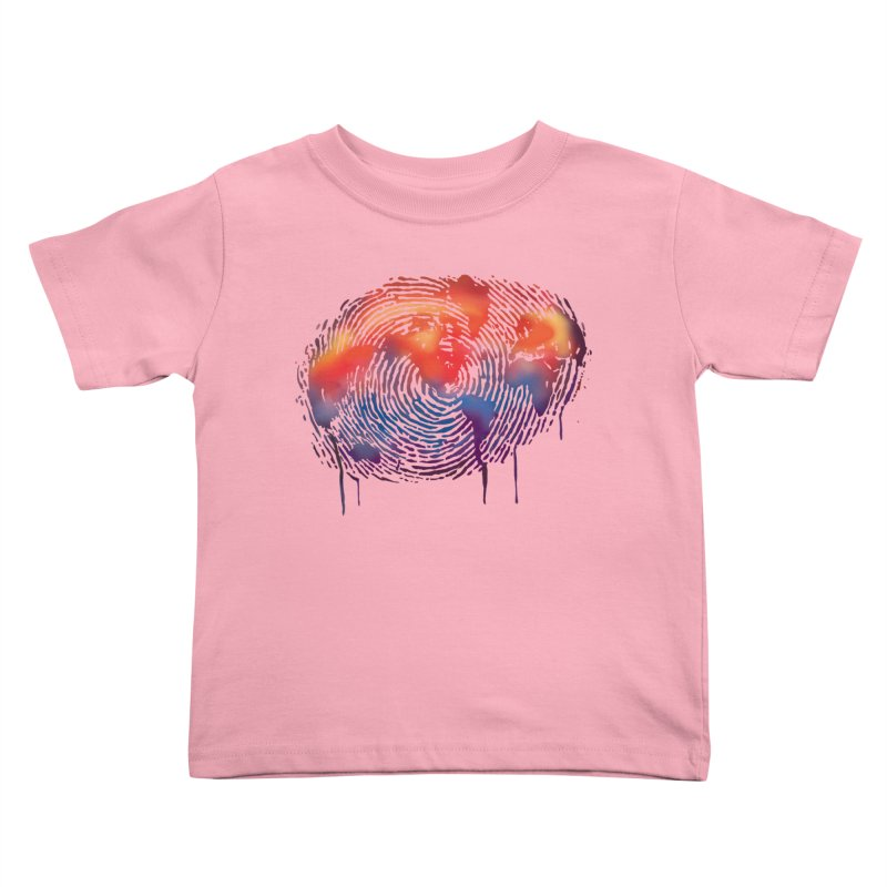 Global Fingerprint Kids Toddler T-Shirt by filsoofdesigns's Artist Shop