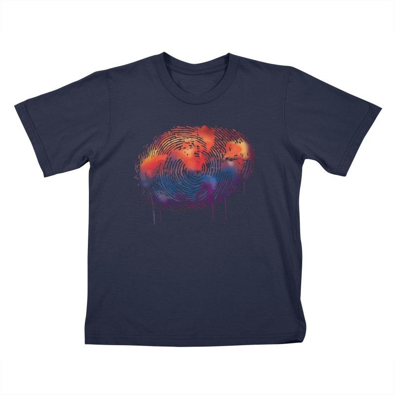 Global Fingerprint Kids T-shirt by filsoofdesigns's Artist Shop