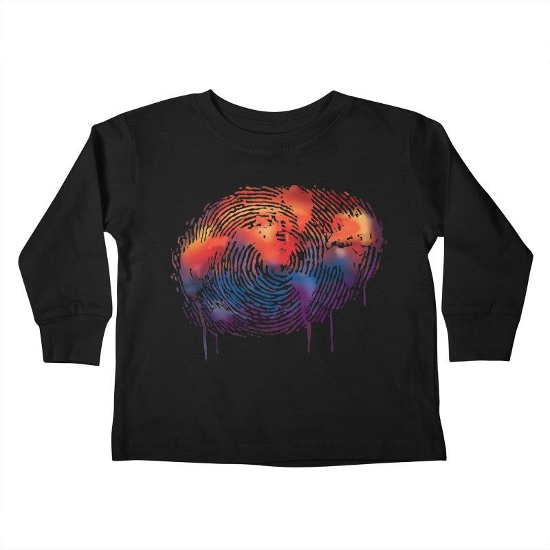 Global Fingerprint Kids Toddler Longsleeve T-Shirt by filsoofdesigns's Artist Shop