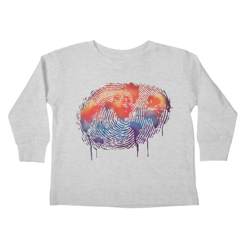 Global Fingerprint Kids Toddler Longsleeve T-Shirt by filsoofdesigns's Artist Shop