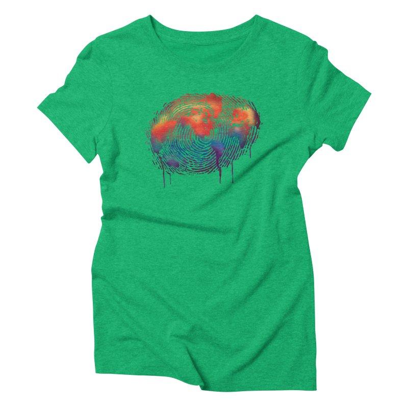 Global Fingerprint Women's Triblend T-Shirt by filsoofdesigns's Artist Shop