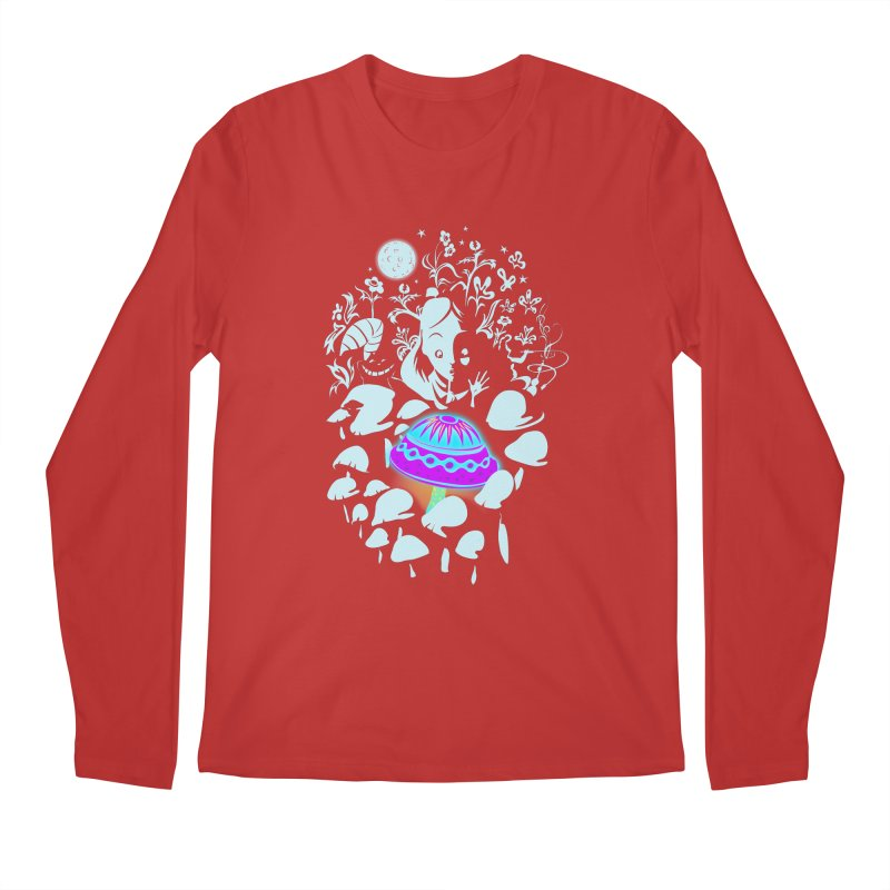Alice in Fungi-land Men's Longsleeve T-Shirt by filsoofdesigns's Artist Shop