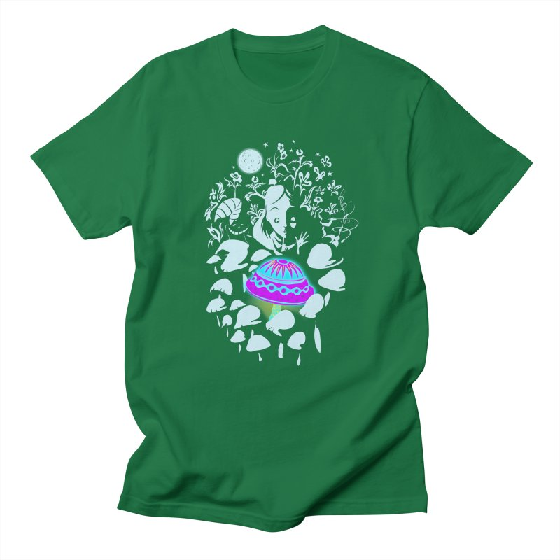 Alice in Fungi-land Men's T-shirt by filsoofdesigns's Artist Shop