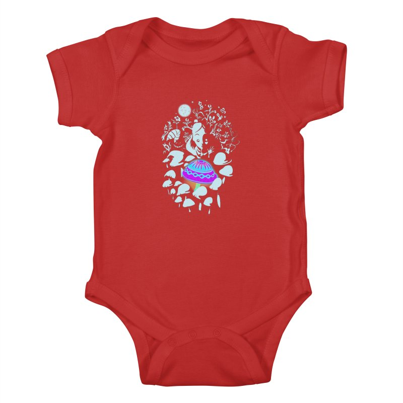 Alice in Fungi-land Kids Baby Bodysuit by filsoofdesigns's Artist Shop