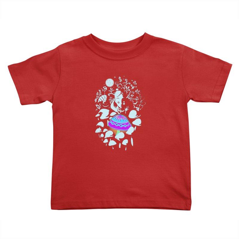 Alice in Fungi-land Kids Toddler T-Shirt by filsoofdesigns's Artist Shop