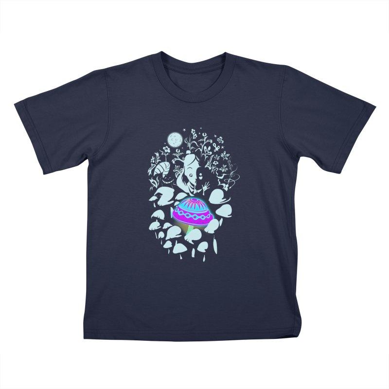 Alice in Fungi-land Kids T-shirt by filsoofdesigns's Artist Shop