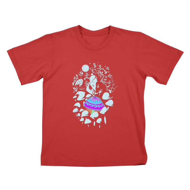 Alice in Fungi-land Kids T-shirt by filsoofdesigns's Artist Shop